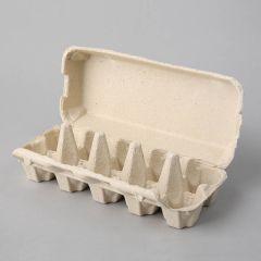 Papīra kastītes 10 olām, pelēkas, iepakojumā 154gab.