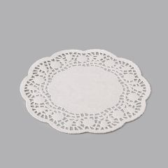 Papīra salvetes ø23cm tortēm, baltas, iepakojumā 500gab.