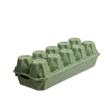 Papīra kastītes 10 olām, zaļas, iepakojumā 154gab.